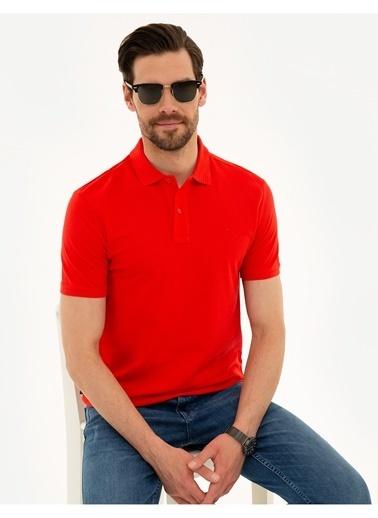 Pierre Cardin Pierre Cardin Nar Çiçeği T-Shirt Kırmızı